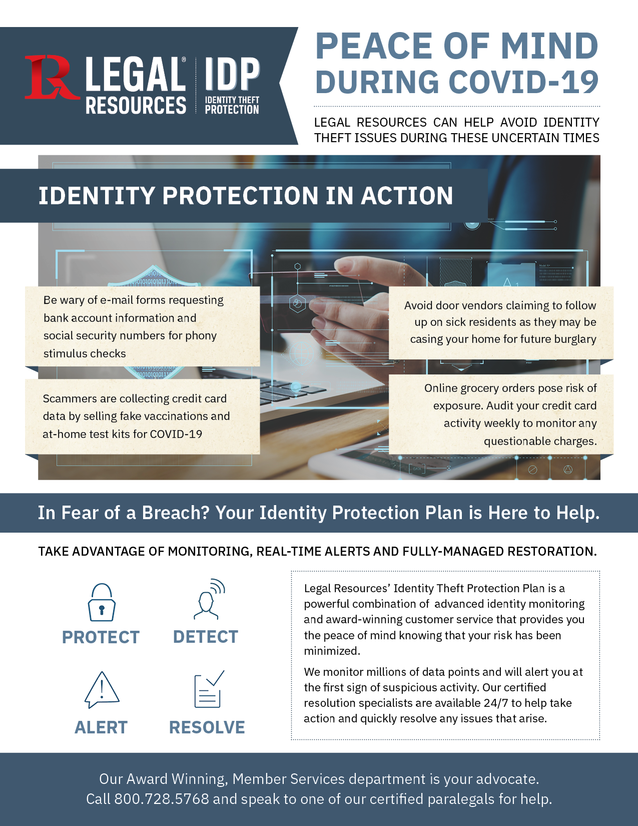 Thumbnail image of our COVID Identity Theft Protection Needs PDF