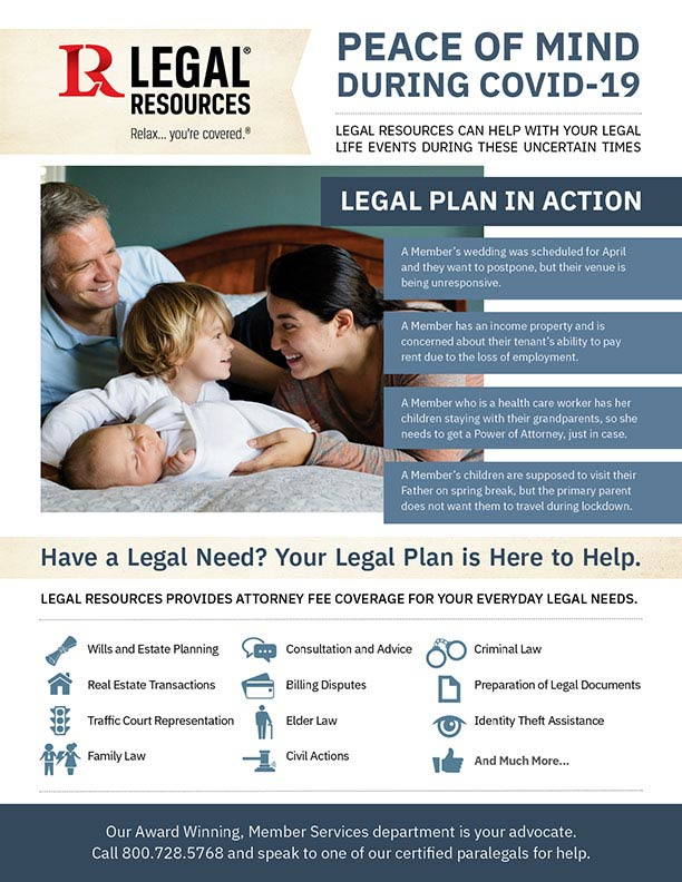 Thumbnail image of our COVID Legal Needs PDF